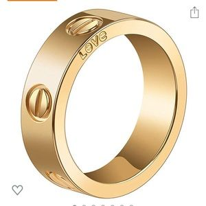 Gold love ring size 7